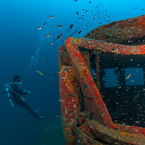 PADI wreck diver specialty course in Koh Tao