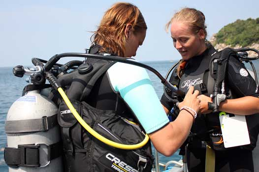 PADI scuba review refresher dive