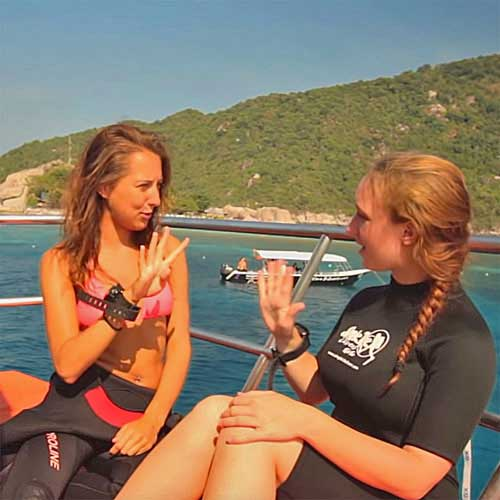 Scuba diving instructor internship in Thailand