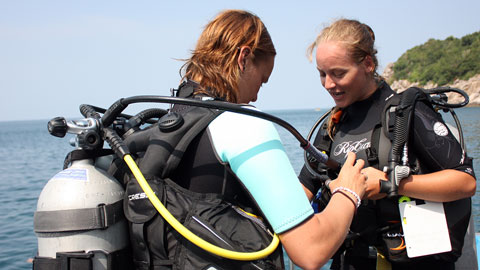 PADI open water diver course in Koh Tao